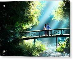 Love And Light  Acrylic Print by Kiran Kumar