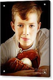 Love Baseball Acrylic Print by Lj Lambert