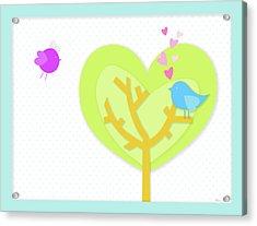 Love Birds Acrylic Print by Nomi Elboim