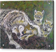Love Cubs Acrylic Print by Julia Rita Theriault