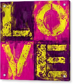 Love Acrylic Print by David G Paul