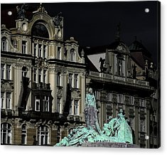 Love Each Other And Wish The Truth To Everyone - Jan Hus Prague Acrylic Print by Christine Till