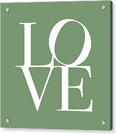 Love In Green Acrylic Print by Michael Tompsett