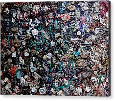 Love In Gum Acrylic Print by Keith Stokes