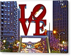 Acrylic Print featuring the photograph Love In Philadelphia by Alice Gipson