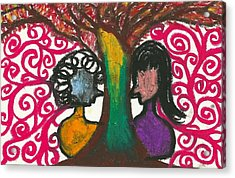 Love In The Tree's Explostion Acrylic Print by Ivy T Flanders