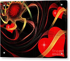 Love Is A Gift From The Heart Acrylic Print