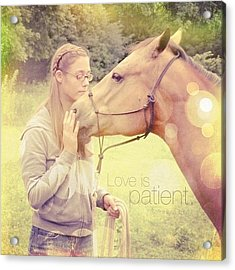 Love Is Patient. 1 Corinthians 13:4💚 Acrylic Print