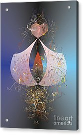 Acrylic Print featuring the digital art Love Jag by Leo Symon