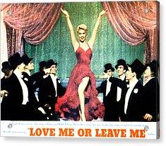 Love Me Or Leave Me, Doris Day, 1955 Acrylic Print