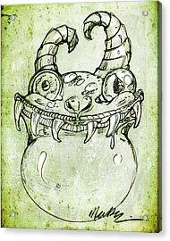 Acrylic Print featuring the drawing Love Monster by Nada Meeks