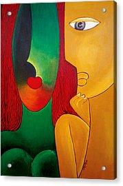 Love Acrylic Print by Nagabhushanam Chintha