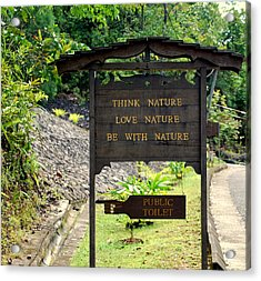 Acrylic Print featuring the photograph Love Nature by Lynn Hughes