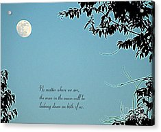 Love Notes Man In The Moon Acrylic Print by Renee Trenholm
