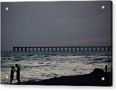 Love On The Beach Acrylic Print