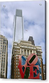 Love Park - Center City - Philadelphia  Acrylic Print by Brendan Reals