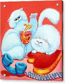 Love Puffs Acrylic Print by Baron Dixon