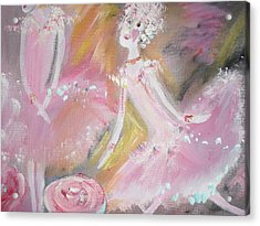 Love Rose Ballet Acrylic Print by Judith Desrosiers