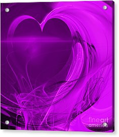 Love . Square . A120423.279 Acrylic Print by Wingsdomain Art and Photography