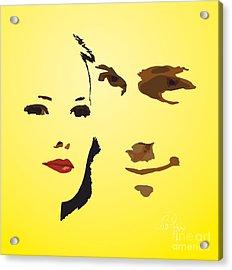 Acrylic Print featuring the digital art Love Story by Leo Symon