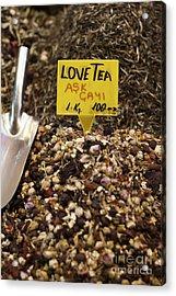 Love Tea Acrylic Print by Leslie Leda