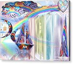 Love Those True Colors Acrylic Print by Catherine Herbert