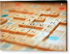 Love Tiled 2 Acrylic Print by Mary Hershberger
