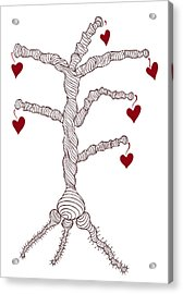 Love Tree Acrylic Print by Frank Tschakert