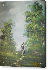 Love Walk In The Woods Acrylic Print