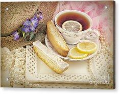 Lovely Tea Party Acrylic Print by Cheryl Davis
