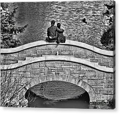 Lovers On A Bridge  Acrylic Print