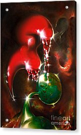 Loving Aliens Acrylic Print by Helge Peters