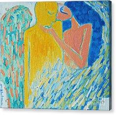 Loving An Angel Acrylic Print by Ana Maria Edulescu