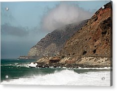 Low Clouds On The Pacific Coast Highway Acrylic Print by John Rizzuto