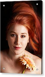 Low Key Portrait Of A Young Woman Acrylic Print