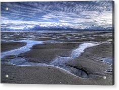 Low Tide Acrylic Print by Michele Cornelius