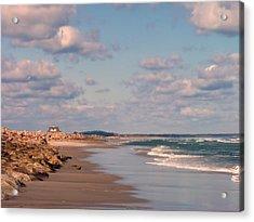 Low Tide Stroll Acrylic Print