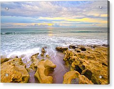 Low Tide Sunrise  Acrylic Print by Tracy Welker
