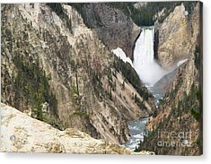 Acrylic Print featuring the photograph Lower Falls Another View by Living Color Photography Lorraine Lynch