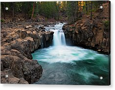 Lower Falls At Sunset Acrylic Print