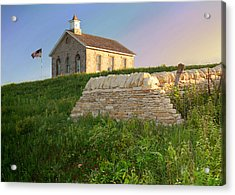 Acrylic Print featuring the photograph Lower Fox Creek School by Rod Seel