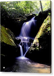 Lower Grotto Falls Acrylic Print by Frozen in Time Fine Art Photography