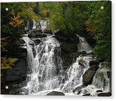 Lower Kaaterskill Falls Ny U S A  1867 Acrylic Print by J D  Whaley