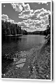 Lower Madawaska River Acrylic Print by Yves Pelletier