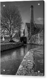 Lower Slaughter Mill Acrylic Print by Nigel Jones