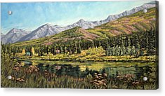 Lower Summit Lake Acrylic Print