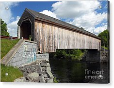 Lowes Covered Bridge Acrylic Print by Rick Mann