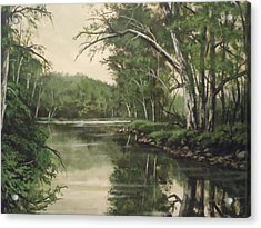 Loyahanna Creek Acrylic Print by James Guentner