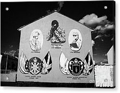 Loyalist Protestant Mural Uda Northern Ireland Acrylic Print by Joe Fox