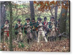 Loyalist Skirmishers Revolutionary War   Acrylic Print by Randy Steele